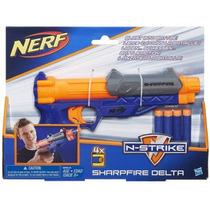 Lançador Nerf N Strike Sharpfire Original Hasbro 4 Dardos