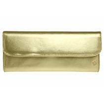 Bolsa Capodarte Couro Cloutch Dourada Festa - Cod.: 4602032