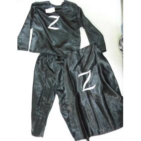 Disfraz El Zorro Talla 12 Incluye Sombrero Y Antifaz