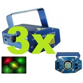 Kit 3 Pisca Pisca Laser Lampada Led Decoração Natal Fachada