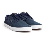 Zapatillas Va California Skate Azul Bco Cuero Envió Gratis
