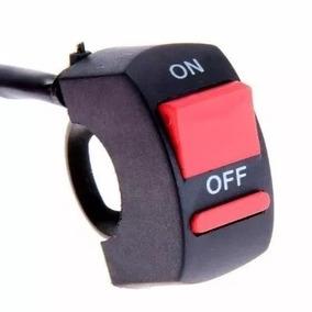 Ficha Tecla Boton Switch Interruptor On/ Off Para Faros Moto