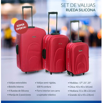 Set De 3 Valijas Temporada 2017 Ideal Viaje De Egresados