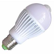 Lâmpada Led E27 5w Com Sensor De Presença E Fotocélula