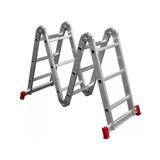 Escada Articulada Alumínio 13 Em 1 (4x3) 12 Degraus Botafogo