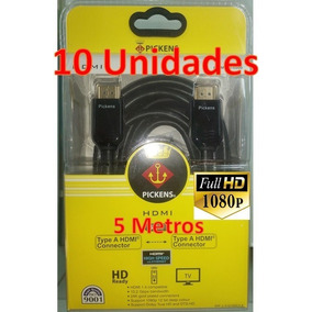 Cable Hdmi Pickens 5 Metros 1080p 10gbps Combo 10 Unidades