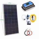 Kit Bomba Dágua 80w 12v Com Painel Placa Solar Fotovoltaico
