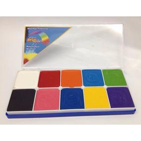 Paleta Maquillaje Base Agua Pintacaritas 10 Colores- Nylo