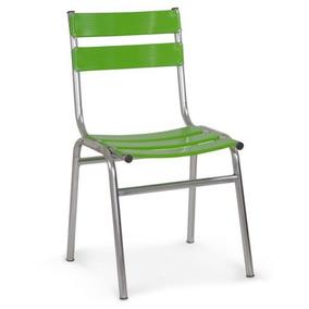 Cadeira De Alumínio Ca-440 Verde Casa Sala Jardim Cozinha