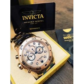 09bbfa61a1c Relogio Invicta 0074 Pro Diver Banhado Ouro 18k No Brasil - Relógios ...