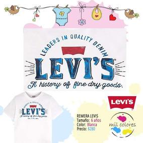 Remera Levis!! Importada 6 Años Nene Blanca Nueva
