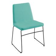 Cadeira Estofada De Jantar Paris Decoração Tecido Linho