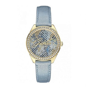 Relógio Guess Feminino Pulseira Couro Azul 92565lpgtdc1 Ibi