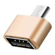 Adaptador Otg Micro Usb Pendrive Cable Tablet Sams Universal