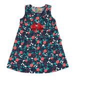 Vestido De Bebê Meia Malha - Marinho Floral - Loopy De Loop