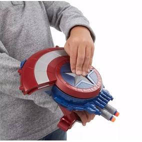 Escudo Nerf Capitão America Lançador Dardos Civil War Hasbro