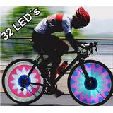 Luz 32 Led Bicicleta Monkey Flash Neon Strobo Rueda