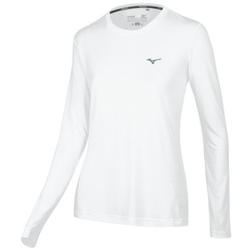 Remera Mizuno Running T-shirt Nirvana Ml Mujer (m413144201)