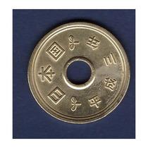 Moeda De 5 Yen Da Sorte De Bronze / Alumínio Com Cordão