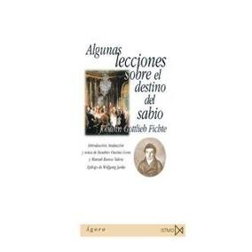 Libro; Algunas Lecciones Sobre El Destino Del Sabio / Istmo