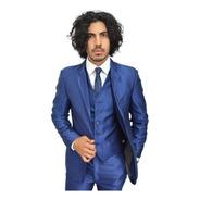 Trajes Hombre Slim Fit Con Chaleco Mod. 9102