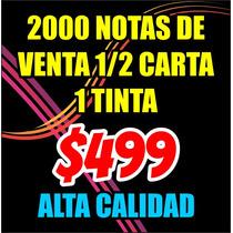 Notas De Venta Comandas 1/2 Carta Bond 90g Oferta