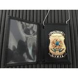 Carteira Com Distintivo Policia Civil Nacional Frete Grátis