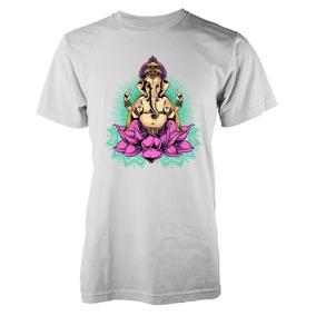 Remera Indian Goddess Elephant Flower Lotus