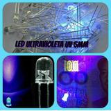 Led Ultravioleta 5mm 3v Uv Luz Negra Chorro