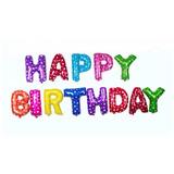 Feliz Cumpleaños Bienvenido Happy Birthday Globos Matelizado