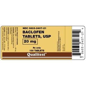 Baclofen De 20 Mg , Con 60 Pastillas, $2090