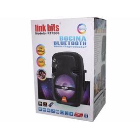 Bocina Bajo Bafle 8 Pulgada Con Luz Led Control Micrófono