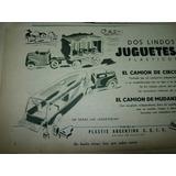 Publicidad Clipping Juguete Antiguo Plastix Camiones Circo