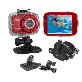 Câmera Filmadora Ação Full Hd Dvr787 Vivitar + Suporte P/