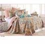 Cubrecama Cover Quilt Estampado King Size + 4 Funda Almohada