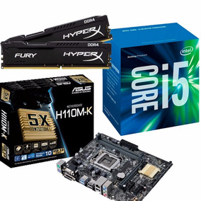 Kit Mb Asus H110m-k + Proc. I5 7400 + Mem 16gb - Na Caixa