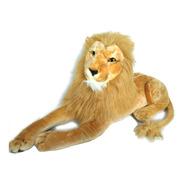 Leão  Gigante Em Pelúcia Realista Grande