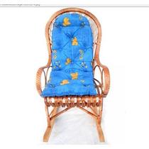 Cadeira De Balanço Em Vime Com Almofada