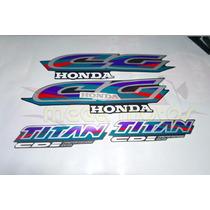Jogo Kit Adesivos Completo Cg Titan 125 97 Grafite - Lb00485