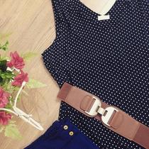 Blusa Bolinha/poa Tm. Especial Plus Size Regata Larguinha