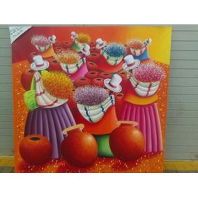 Pintura Alto Relieve.cuadros Para Sala Hogar.