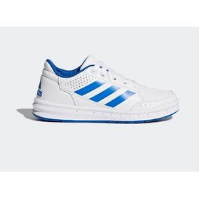 Tenis adidas Blanco-azul Del 22cm Al 26 Cm