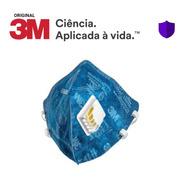 5 Máscara Azul 3m 9822 Pff2 Com Válvula N95 - C/ Nota Fiscal