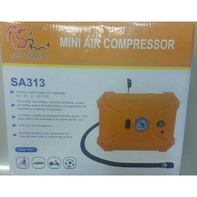 Mini Compressor Sa Tools 12v 110v Com Lanterna Embutida