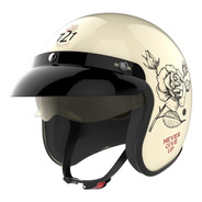 Casco Moto Abierto Hawk 721 Never Give Up Solomototeam