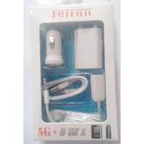 Carregador Kit 5 In 1 Iphone 5 5s 6s Fone + Cabo + Fontes
