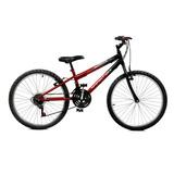Bicicleta Aro 24 Vermelho/preto Masculina - Master Bike