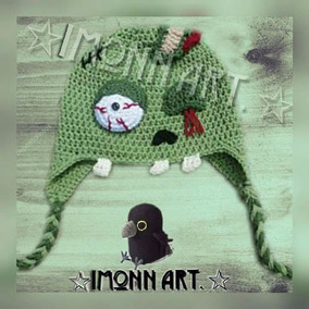 Gorro, Zombie Chimuelo, #4 Tejido A Mano, Crochet