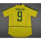 Camisa Retro Seleção Brasileira 2002 #9 Ronaldo Home - Nova!