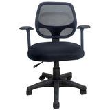 Cadeira Escritório Telada Preto Confort Giratória Et0003